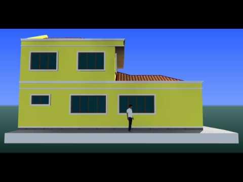 visual 3d rekabentuk ubahsuai rumah teres 1 tingkat di