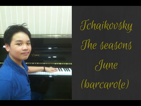Tchaikovsky - The seasons - june (barcarolle)
