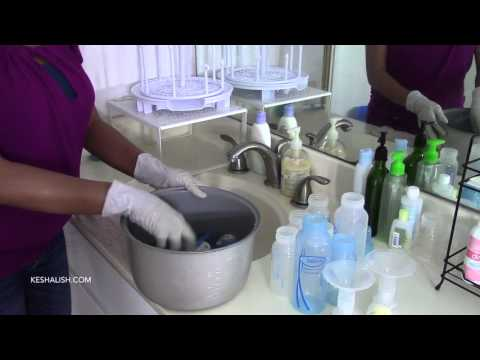 How to Clean and Sterilize Baby Bottles | Setup Bottle Cleaning Area
