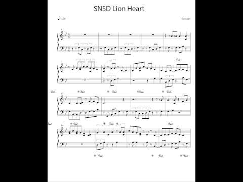 Girls' Generation 소녀시대 (SNSD) Lion Heart - Piano Cover and Sheet Music - Forever4