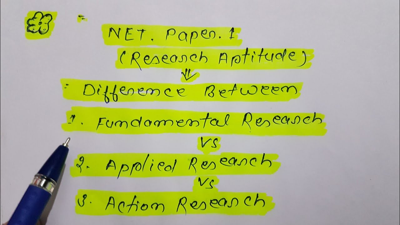 difference between action research and fundamental research
