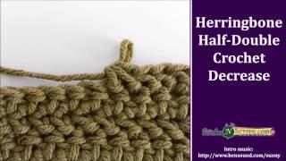 Herringbone Half Double Crochet Decrease (and Increase)