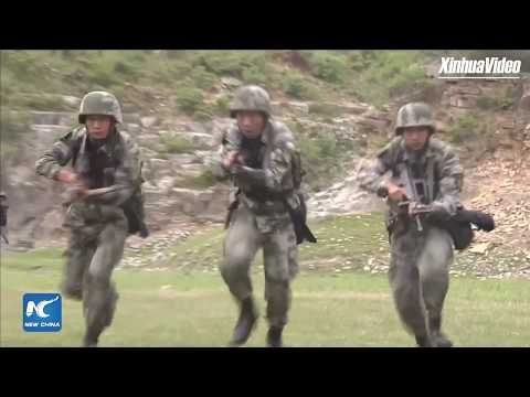 "Chinese ""Iron army"" troops conduct live-fire training"