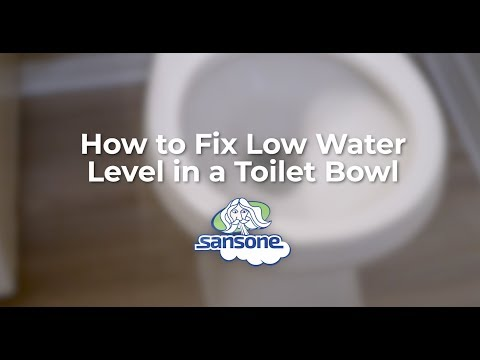 4 Reasons for Low Water Level in your Toilet Bowl & How to