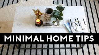Tips For A Clutter Free Home | Minimalism For Beginners