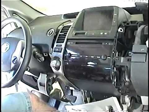How to Remove Radio / CD Changer / Control Display from Toyota Prius for  Repair