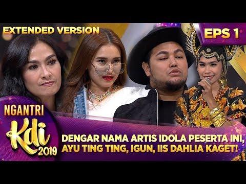 DENGAR NAMA ARTIS IDOLANYA PESERTA INI, AYU, IIS & IGUN KAGET  - Ngantri KDI 2019 (15/7) PART 4
