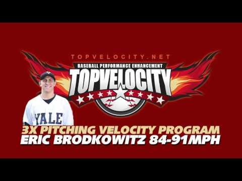 Eric Brodkowitz 84-91MPH - 3X Pitching Velocity Program