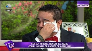 Teo Show - Adi Minune, in lacrimi! Marturisiri EMOTIONANTE despre femeile din viata lui!