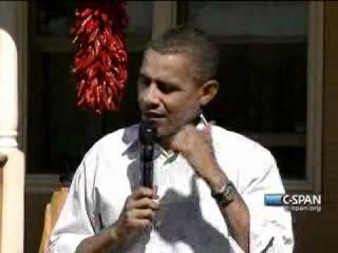Pr. Obama -Backyard NM (5) Middle Class - New Mexico Jobs Economy Debt