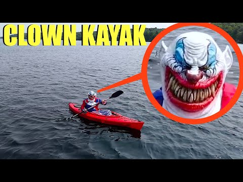 when your drone see's a clown on a kayak, do not let it get on your boat!! (Run away Fast!!)