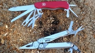 Swiss Army Knife vs Leatherman Multitool