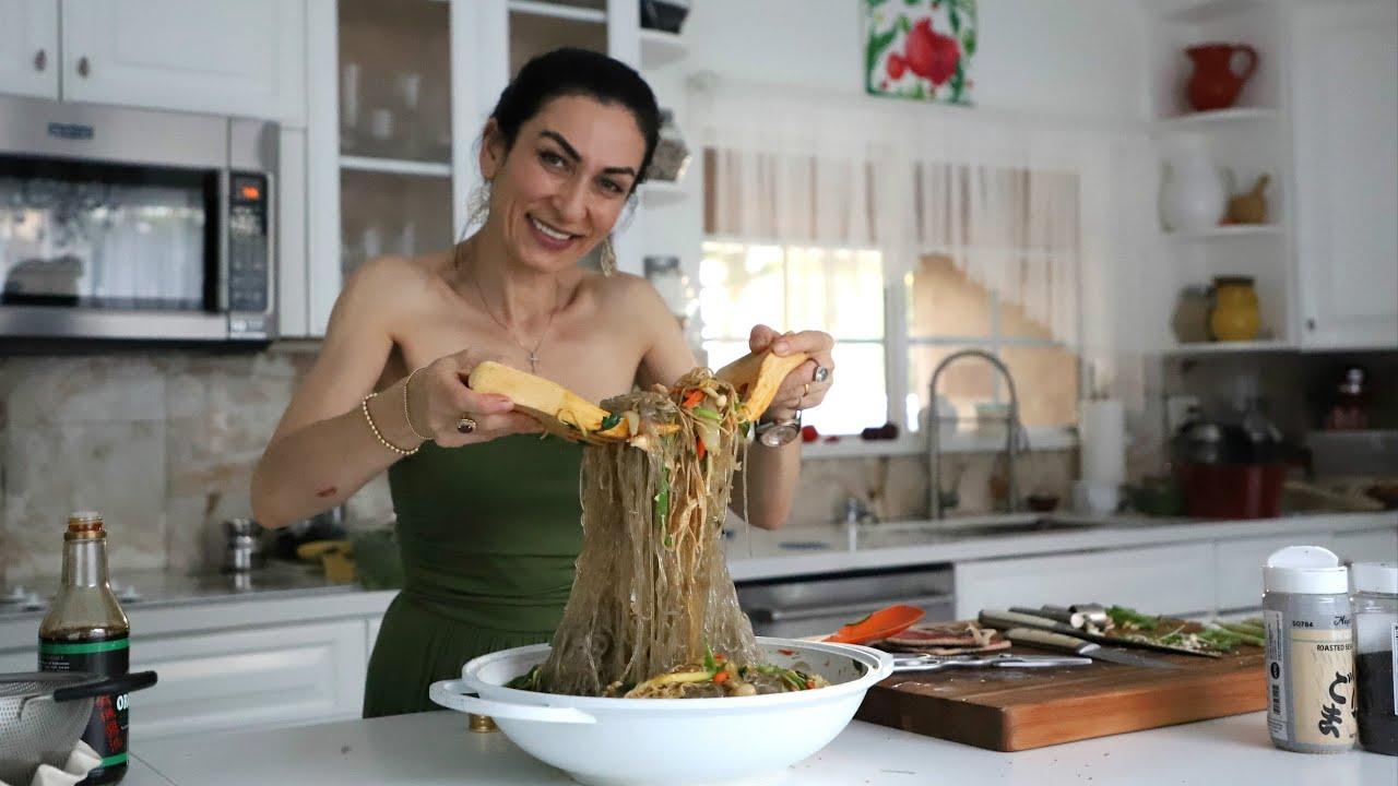Нудлс Лапша с Овощами - Корейская Кухня - Noodles - Рецепт от Эгине - Heghineh Cooking Show