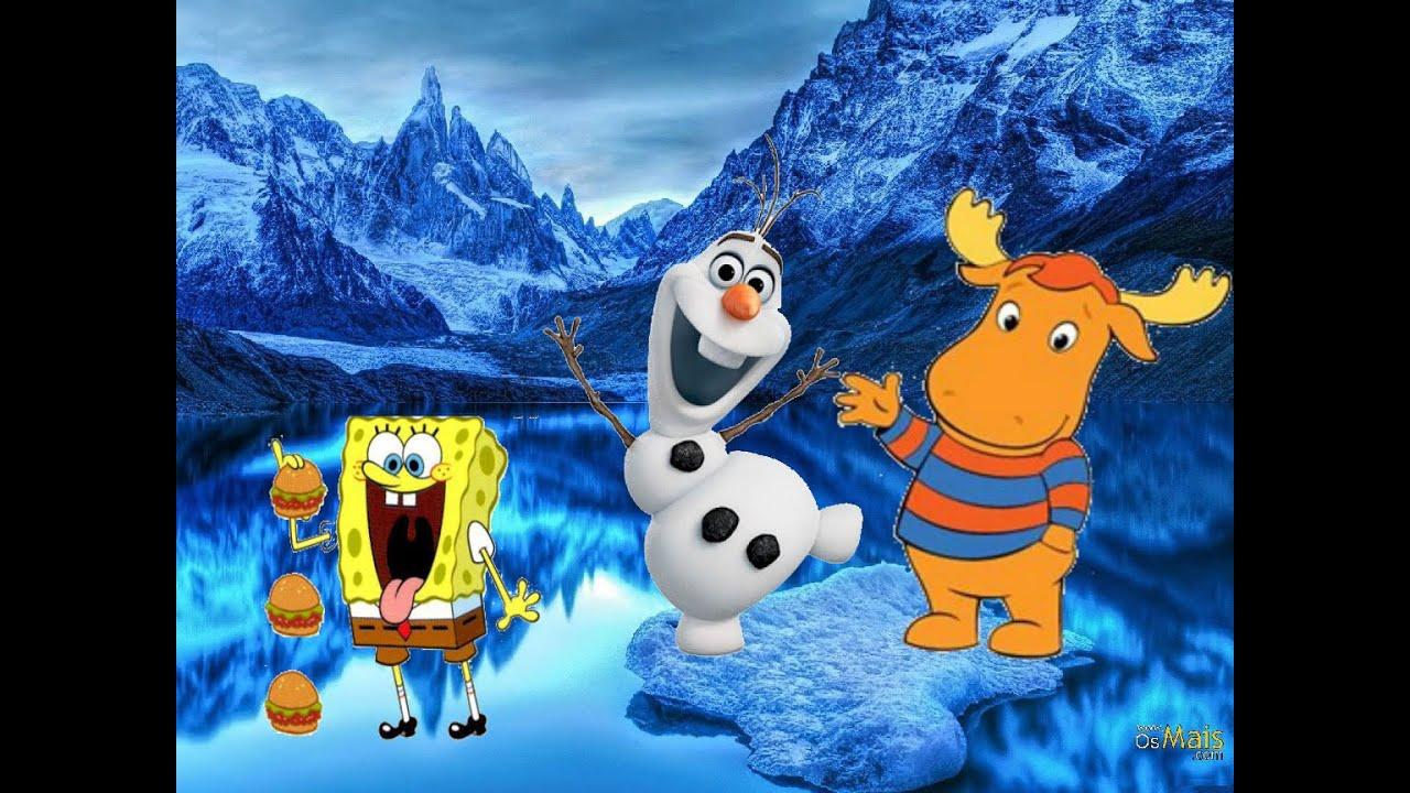 Olaf Frozen Tyrone Backyardigans Bob Esponja Patrick Estrela Hd