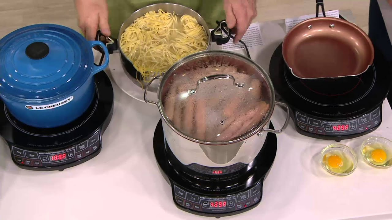 NuWave Precision Induction Cooktop with 9 Fry Pan on QVC