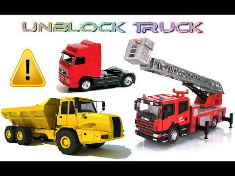 Unblock Truck! Fire Trucks & Cement Trucks & Dump Trucks (Video Game Demo)