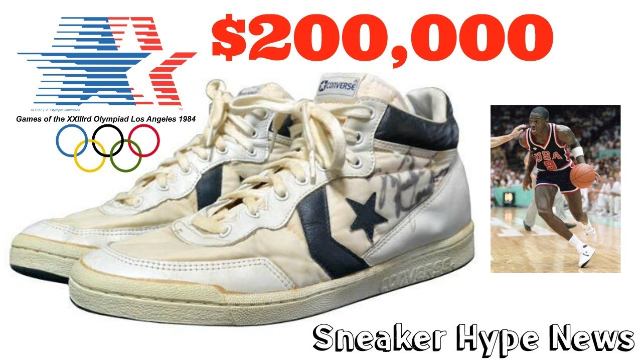 774d94ccac68 MICHAEL JORDAN GAME WORN CONVERSE IN 1984 OLYMPICS GAMES SOLD FOR  200