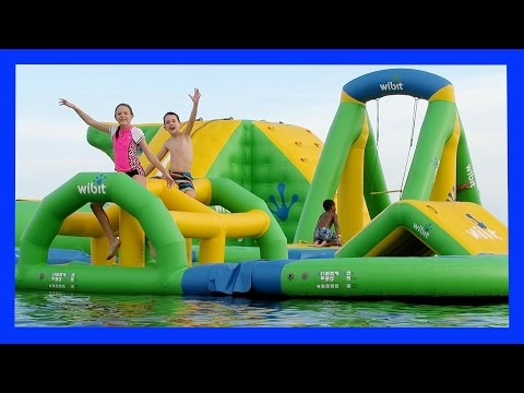 CRAZY OBSTACLE COURSE ON THE WATER (Day 1565)