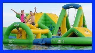Video CRAZY OBSTACLE COURSE ON THE WATER (Day 1565) download MP3, 3GP, MP4, WEBM, AVI, FLV Desember 2017