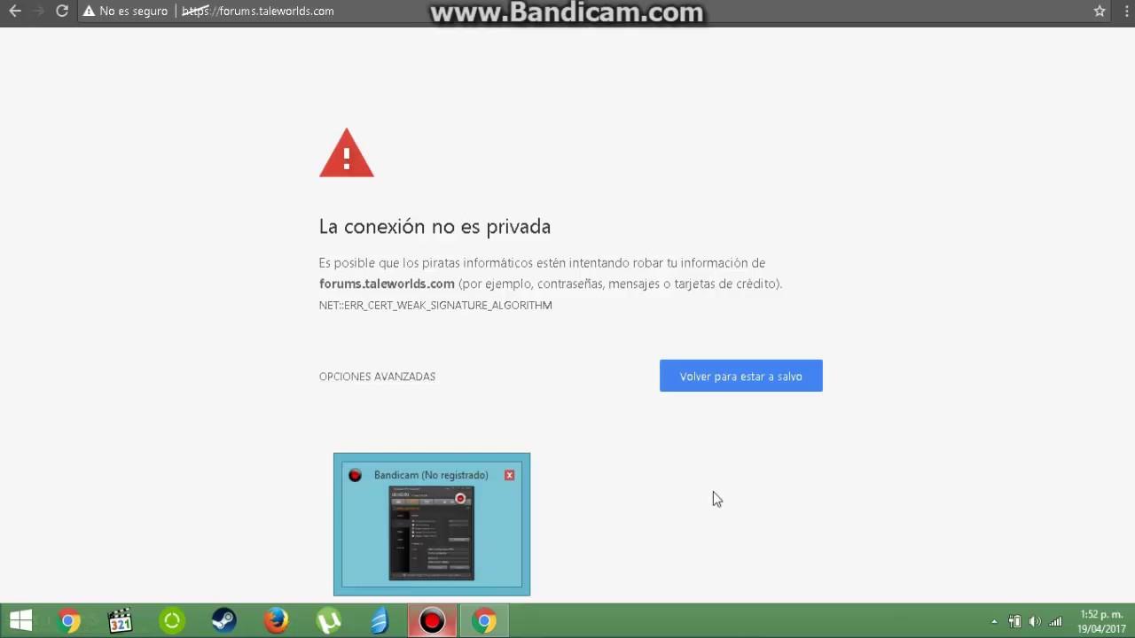 21a5837b2d0 Error de privacidad Google Chrome, una posible solución. - YouTube