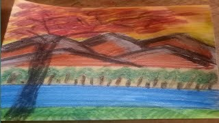 How to draw mountain Nature by keep smile ever