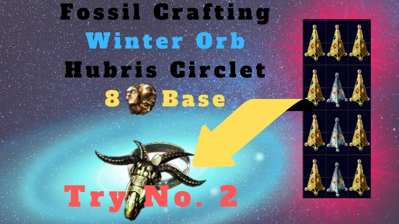 [Path of Exile 3 6] Fossil Crafting an Insane Winter Orb Hubris Circlet!!