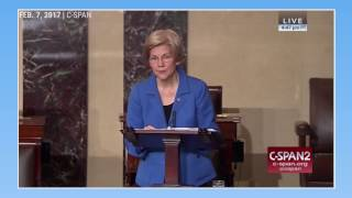 Republicans silenced Elizabeth Warren while debating Jeff Sessions' nomination Free HD Video