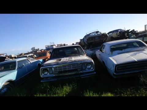 1968 383 dodge charger wrecking yard find