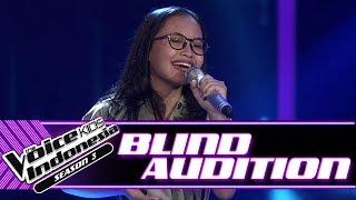 Zilah - Untuk Perempuan Yang ... | Blind Auditions | The Voice Kids Indonesia Season 3 GTV 2018