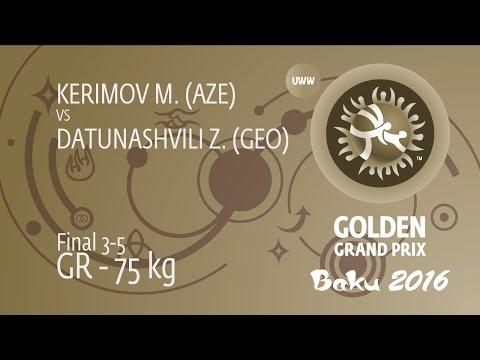 BRONZE GR - 75 kg: Z. DATUNASHVILI (GEO) df. M. KERIMOV (AZE), 2-1
