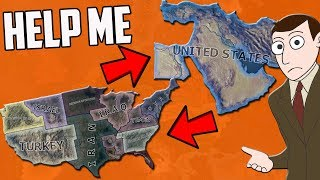 What If the USA and Middle East Were Swapped?! HOI4