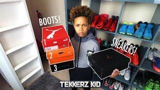 Triple Football Boot & Sneaker Unboxing! *Tekkerz kid Sneaker Collection!