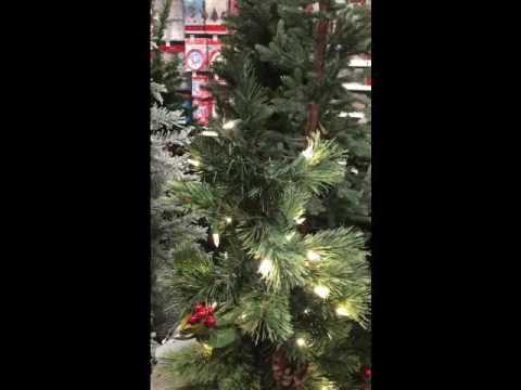 45ft prelit durham pine potted artificial christmas tree - Potted Artificial Christmas Trees