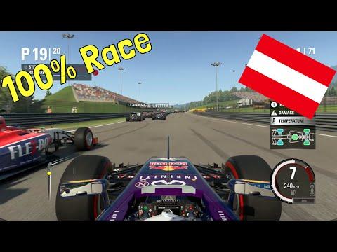 F1 2015 - 100% Race at Red Bull Ring, Spielberg, Austria in Ricciardo's Red Bull
