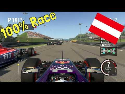 F1 2015 - 100% Race at Red Bull Ring, Spielberg, Austria in Ricciardo