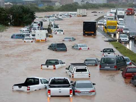 Floods in Durban, floodings Kwazulu-Natal, heavy rainfall in South Africa,