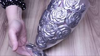 Diy Metallic Rose Vases  Simple Home Decorating idea!