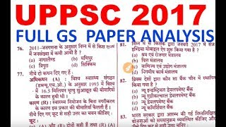 uppsc 2017 gs question paper answer key    uppcs solved paper analysis    answer key    cutoff