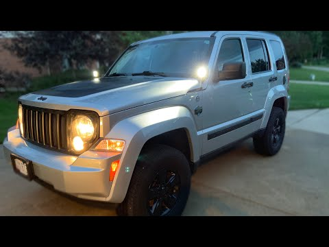 Jeep Liberty kk interior panel removal and audio install
