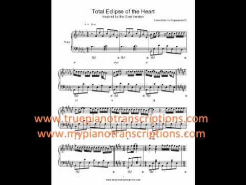 Total Eclipse of the Heart Glee Sheet Music