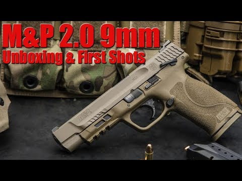 "New S&W M&P 2.0 FDE 5"" Unboxing First Shots & Impressions"