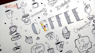 Coffee Doodle | Fun Doodling | Coffee Mugs doodle | How to Doodle