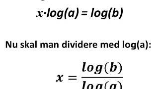 Logaritme anvendes til at isolere eksponent