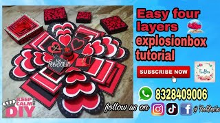 DIY Easy four layers explosionbox tutorial | how to make explosionbox | best gift making by FeelBox