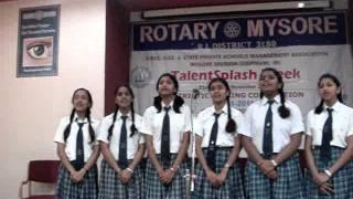 bharat anokha raag hai- talent splash mysore