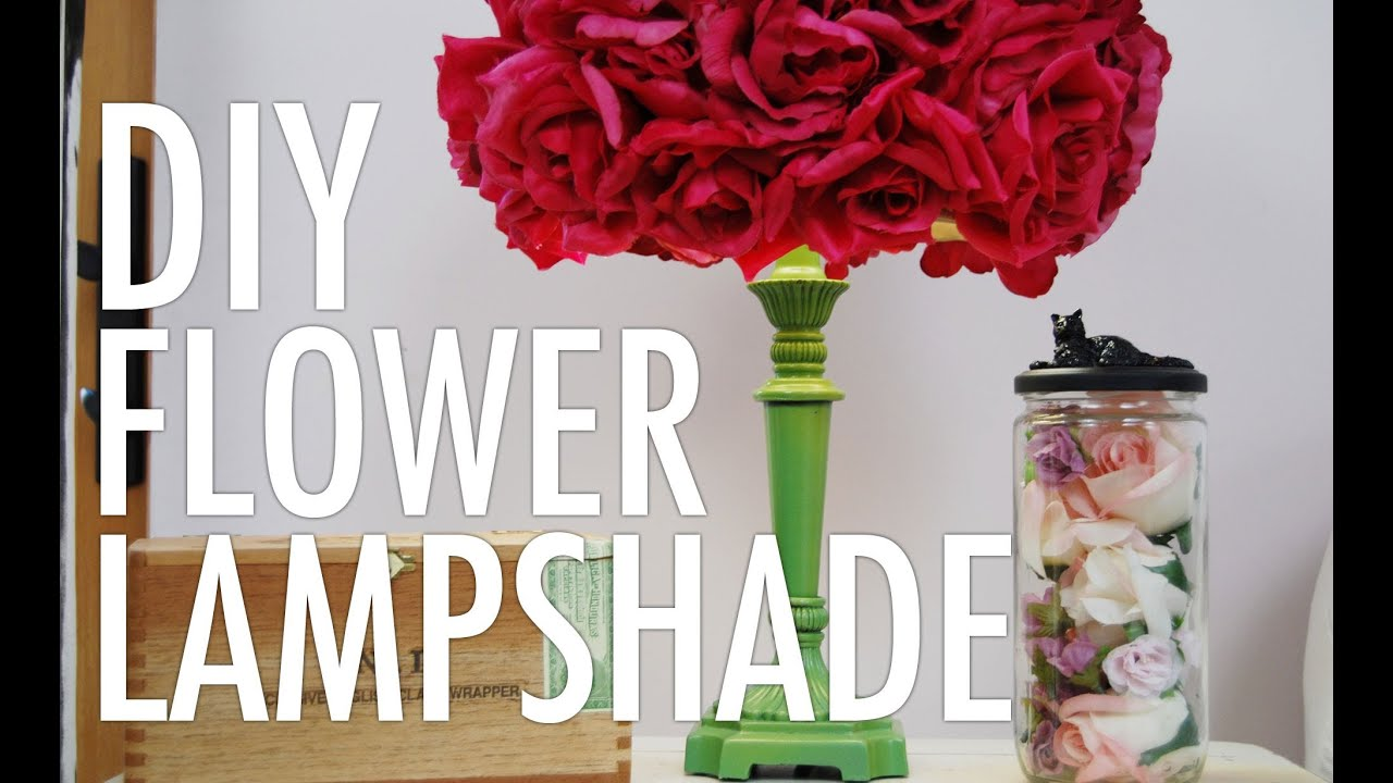 Diy Flower Lampshade With Mr Kate Youtube