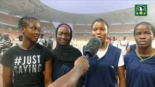 Capital Science Student Girls after winning the relays
