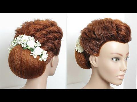 new-hairstyle-for-long-hair.-wedding-bun-updo