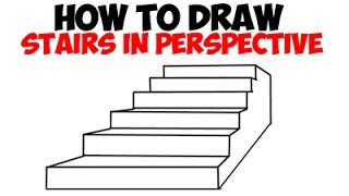 How to Draw Stairs in Perspective Step by Step Drawing Tutorial