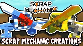 Scrap Mechanic CREATIONS! - CUSTOM PRIVATE PLANES?!! [#21] W/AshDubh | Gameplay |